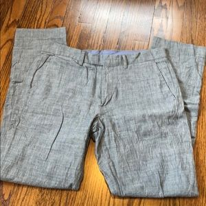 JCrew Slim Bowery Chambray Grey Pants - 31/32